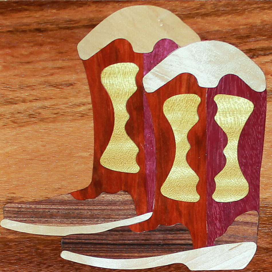 EZInlays KickinIt (Cowboy Boots) Decorative Inlay Design