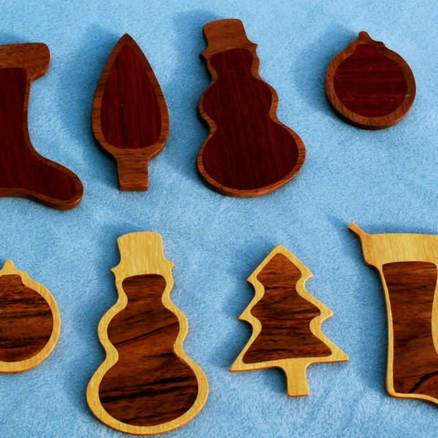 EZInlays Christmas Ornaments Decorative Inlay Kit